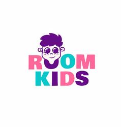 modern professional logo kids room in pink vector image