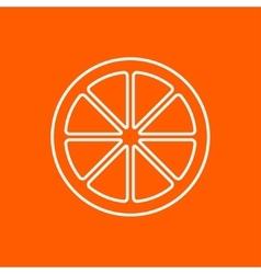 orange icon Eps10 vector image