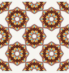 Oriental seamless geometric fabric pattern vector