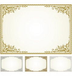 ornamental frame set vector image
