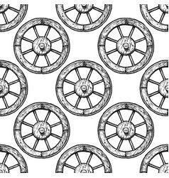 pattern with wheel vector image
