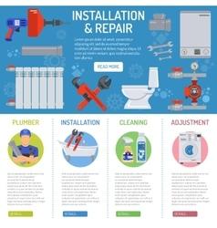 Plumbing Service infographics vector