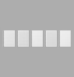 realistic line notobooks blank padded sketchbook vector image