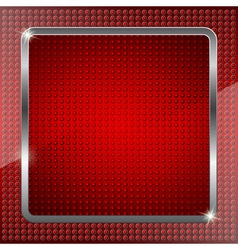 Red fluorescent background vector image