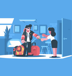 Rent apartment or room vector