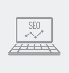 seo digital data report vector image