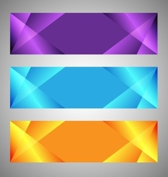 set modern banners with polygonal background vector image