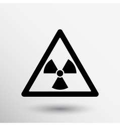 sign radiation icon caution nuclear atom power vector image