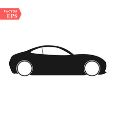simple floating sports car icon viewed from the vector image