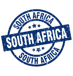 south africa blue round grunge stamp vector image