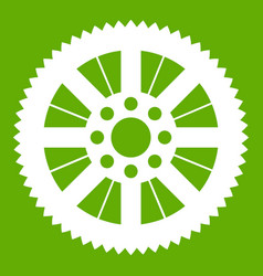 sprocket from bike icon green vector image