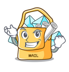 Successful the bag with shape mail cartoon vector