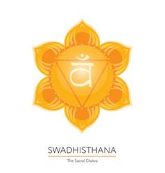 swadhisthana chakra icon vector image