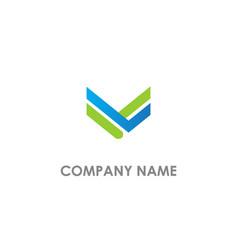 v shape line logo vector image