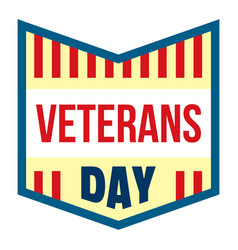 veterans day logo flat style vector image
