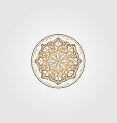 vintage mandala circle ethnic culture design vector image