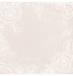 Vintage Rose Ivory Background vector image