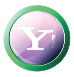 yahoo platform logo inside a green circle icon on vector image