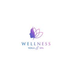 Yoga logo beauty wellness simple minimalist vector