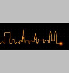 Zurich light streak skyline vector