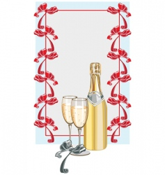 champagne background vector image