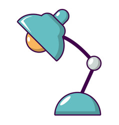 desk lamp icon cartoon style vector image