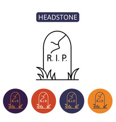 grave icon flat design vector image vector image