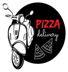 pizza delivery3 resize vector image vector image