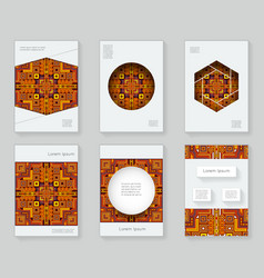 cover design template ethnic colorful abstract vector image vector image