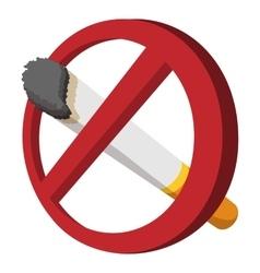 No smoking sign cartoon icon vector image vector image