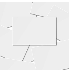 Pile of blank business card vector image vector image