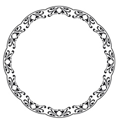 Rounded frame in the style of Art Nouveau vector image vector image