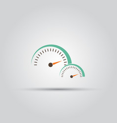 speedometer isolated colored icon vector image