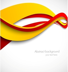 Abstract wavy background in orange and red colors vector image vector image