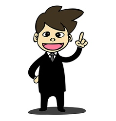 Business man cartoon style vector image