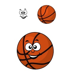 Isolated basketball ball with a happy face vector image