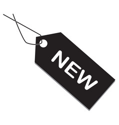 new tag on white background new item sign flat vector image vector image