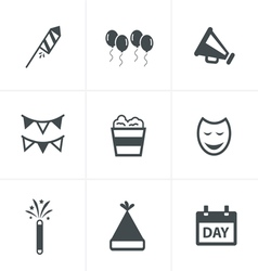 party Icons Set Design vector image vector image
