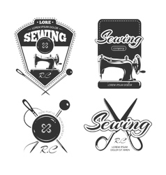 Tailor shop retro logo labels and badges vector image vector image