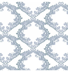 Vintage Floral Baroque ornament damask pattern vector image