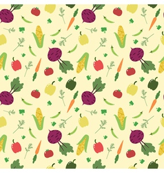 Cartoon vegetables seamless pattern vector image