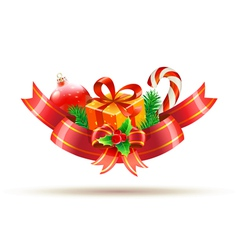 christmas decoration vector image