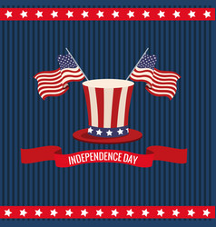 independence day usa national celebration vector image vector image