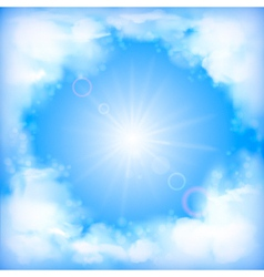 ky Design White Clouds Sun Blur vector image vector image