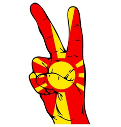 Peace Sign of the Macedonian flag vector image
