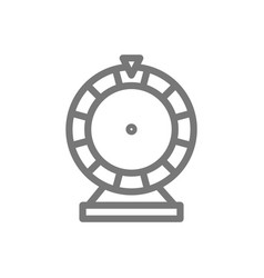 simple wheel of fortune line icon symbol and sign vector image