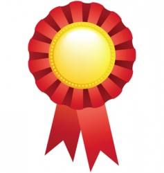 sport award ribbon vector image vector image