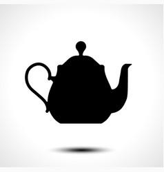 teapot kettle tea kettle icon vector image vector image