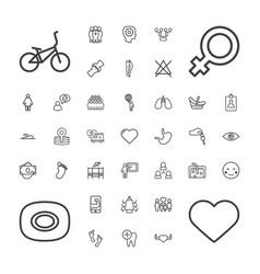 37 human icons vector
