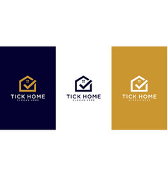 abstract building house logo design template vector image